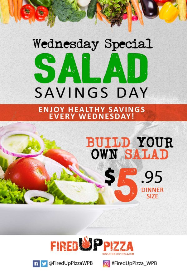 Build your own salad - Every Wednesday for just $5.95